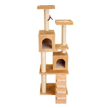 Kitty Super Play Center with Ramp – Beige