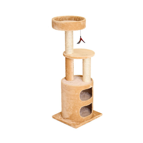 Two Story Kitty Condo & Tree - Beige