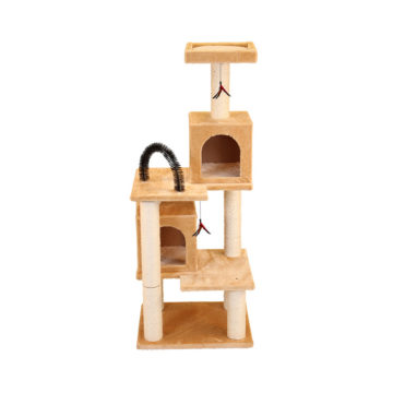 Multi-Tier Kitty Play Tower with Two Hideouts- Beige