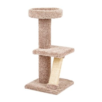 Kitty Tower with Straight Ramp and Shelf