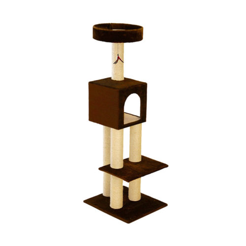 Kitty Fun Tower with Hideout - Brown