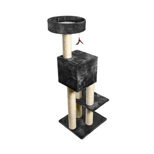 Kitty Fun Tower with Hideout - Gray
