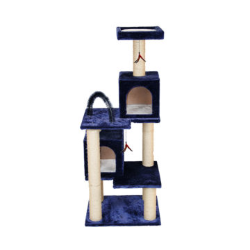 Multi-Tier Kitty Play Tower with Two Hideouts- Blue